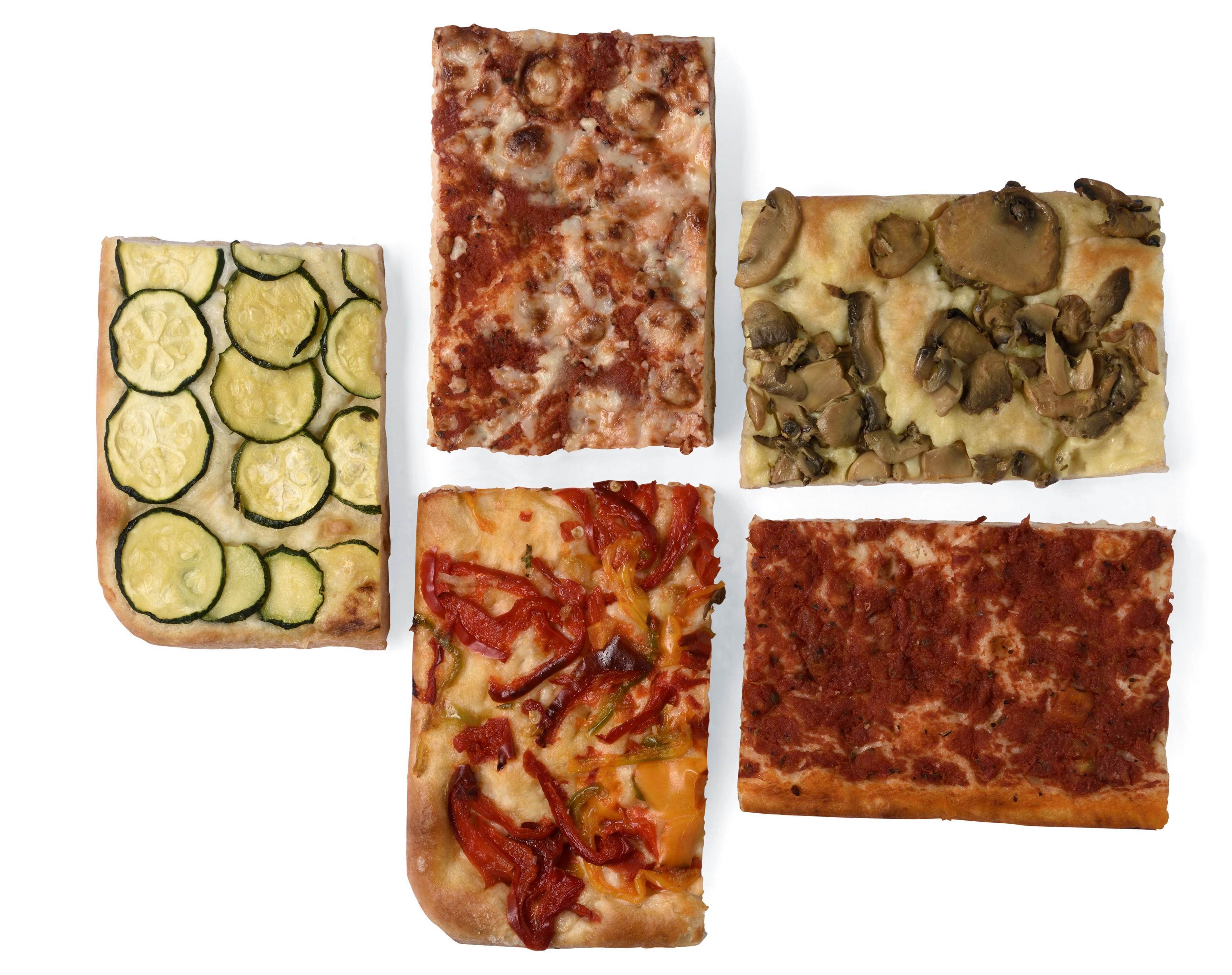 Tranci di pizza in teglia